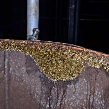 Inicio do processo de incrustação em tubulação de usina hidrelétrica