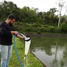 Filtragem de água em pisciculturas para avaliação quantitativa do mexilhão-dourado
