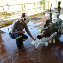Amostragem de água em tubulações de Estações de Tratamento de Água para avaliação molecular da presença do mexilhão-dourado