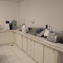 Equipamentos do laboratório de genética